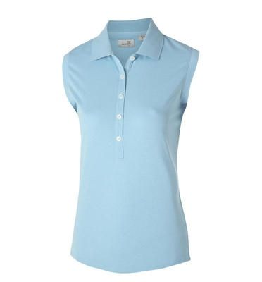 Ashworth Ladies Sleeveless Polo - Baby Blue