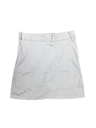 Ashworth Golf Ladies Skirt/Short Skort - Grey w/ White Trim