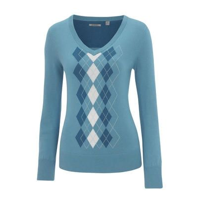 Ashworth Ladies Argyle Sweater