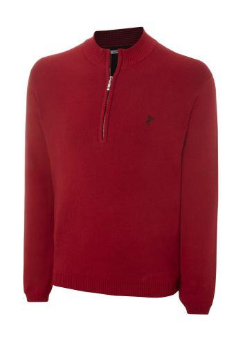 Ashworth Half Zip Sweater Mens Red
