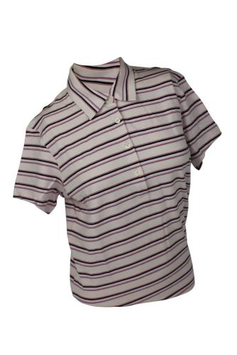 Ashworth Ladies 4 Button Striped Polo Shirt