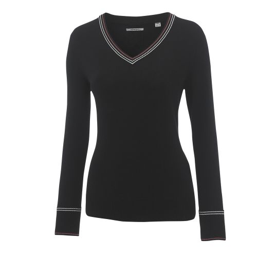 Ashworth Ladies Cotton Sweater w/ Cable