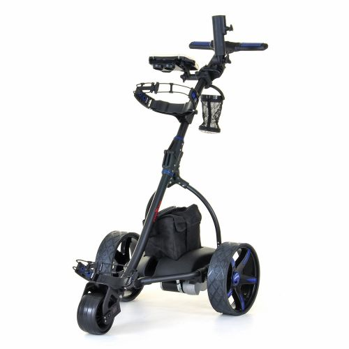 Caddymatic V2 Electric Golf Trolley / Cart with Upgraded 36 Hole Battery Blue