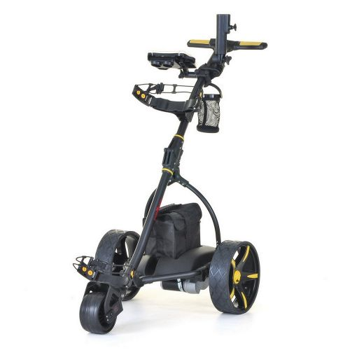 Caddymatic V2 Electric Golf Trolley / Cart with Upgraded 18 Hole Battery Yellow