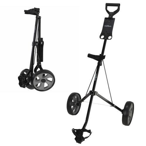 Caddymatic i-Trac 2 Wheel Folding Golf Trolley Black,,