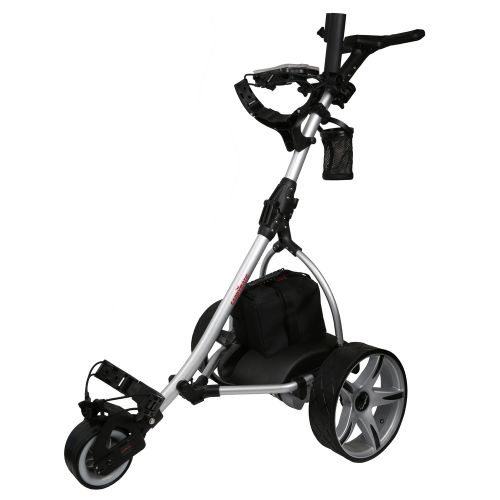 Caddymatic V2 Electric Golf Trolley / Cart with Upgraded 18 Hole Battery Silver/Black