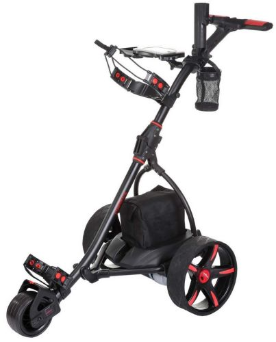 Caddymatic V2 Electric Golf Trolley / Cart with Upgraded 18 Hole Battery Black