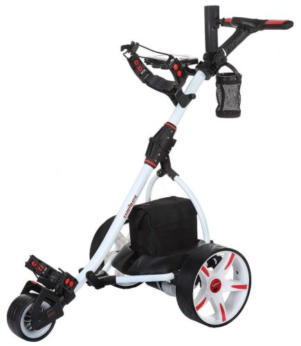 Caddymatic V2 Electric Golf Trolley / Cart with Upgraded 18 Hole Battery White