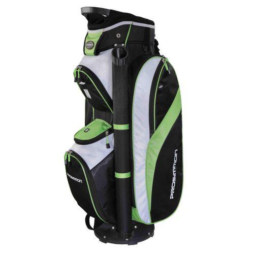 Prosimmon Tour 14 Way Cart/Trolley Golf Bag Black/Green