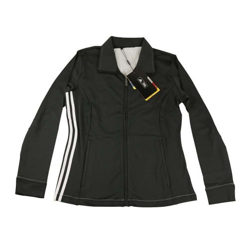 Adidas Ladies ClimaLite 3 Stripes Full Zip Golf Jacket