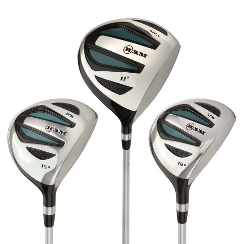 Ram Golf EZ3 Ladies 1 Inch Shorter Wood Set inc Driver, 3 Wood and 5 Wood - Headcovers Included - Graphite Shafts,,,