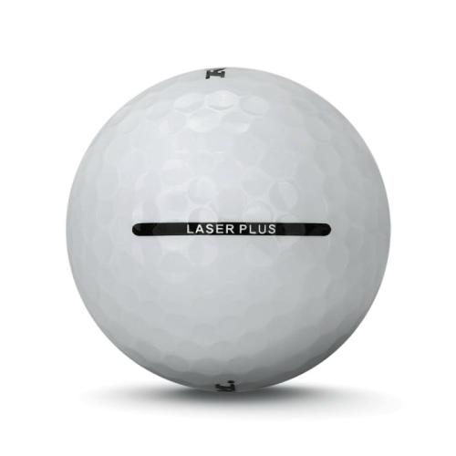 6 Dozen Ram Laser Plus Golf Balls -Soft Low Compression for Slower Swing Speed White