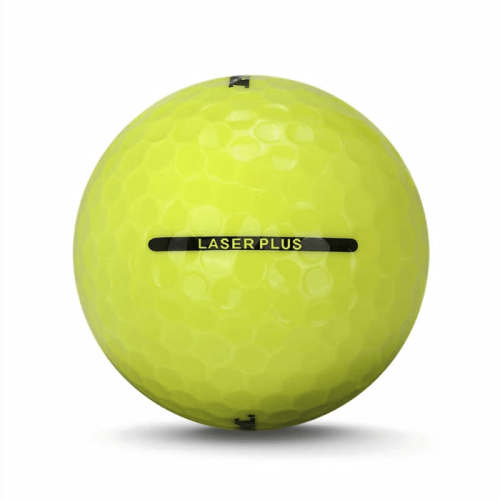 3 Dozen Ram Laser Plus Golf Balls -Soft Low Compression for Slower Swing Speed Yellow