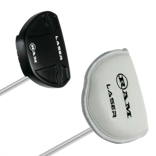 Ram Golf Laser Red Milled Face Mallet Putter - Black,,,,,