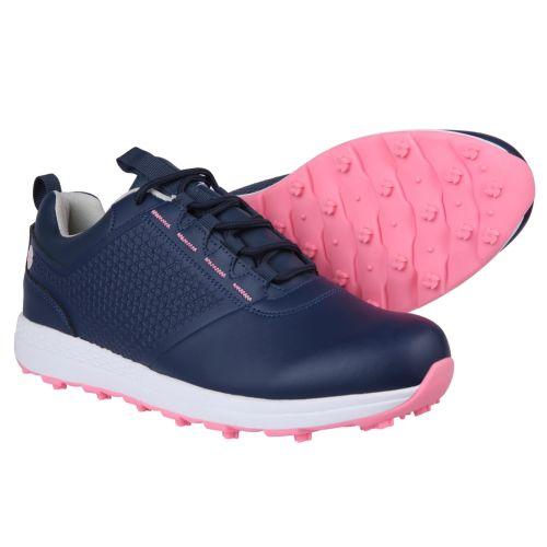 Ram Golf Accubar Ladies Golf Shoes, Blue/Pink