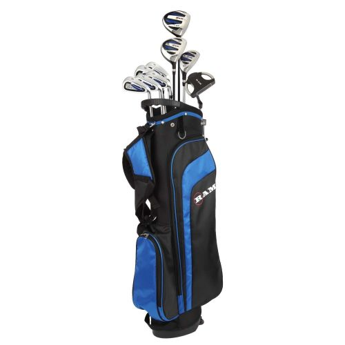 Ram Golf EZ3 Mens -1 Shorter Golf Clubs Set with Stand Bag - Graphite/Steel Shafts
