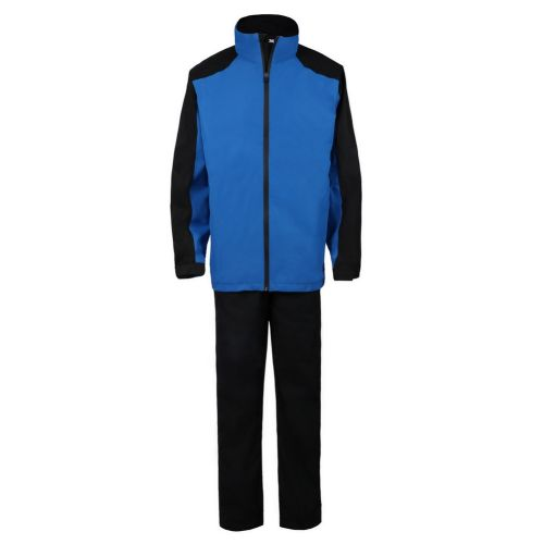 Ram Golf FX Premium Waterproof Suit (Jacket and Trousers), Blue/Black