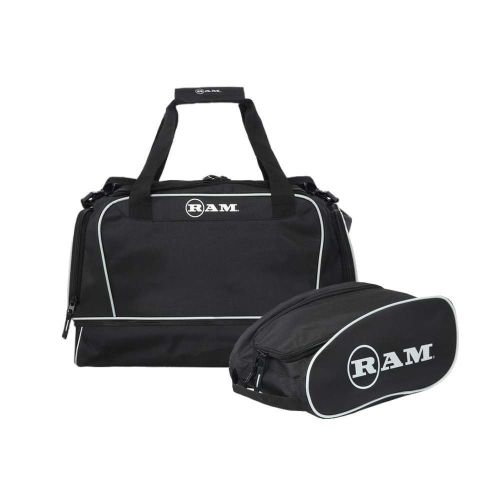 Ram Golf Duffel Bag / Gym Bag / Sports Holdall with Dedicated Shoe Compartment + Golf Shoe/Boot Bag