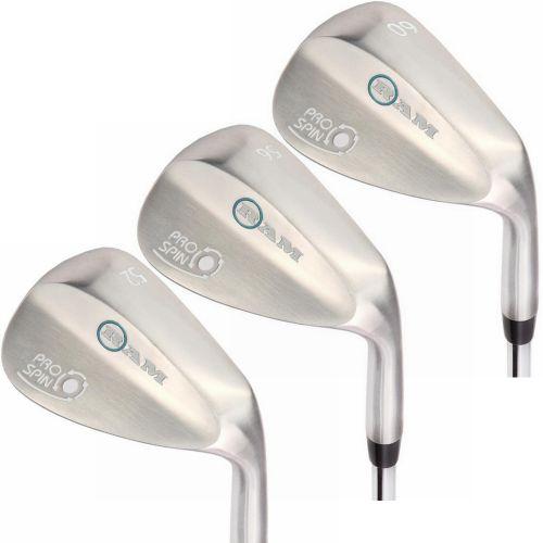 Ram Golf Pro Spin 3 Wedge Set - 52°, 56°, 60° - Graphite Shaft, Lady Flex