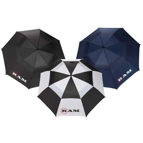 3 Pack Ram Premium 60 Double Canopy Golf Umbrellas