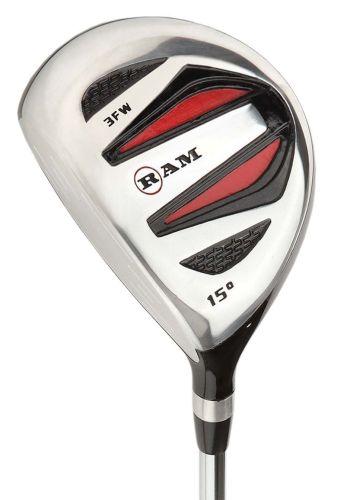 Ram Golf SGS #3 Fairway Wood - Mens Left Hand - Headcover Included - Steel Shaft