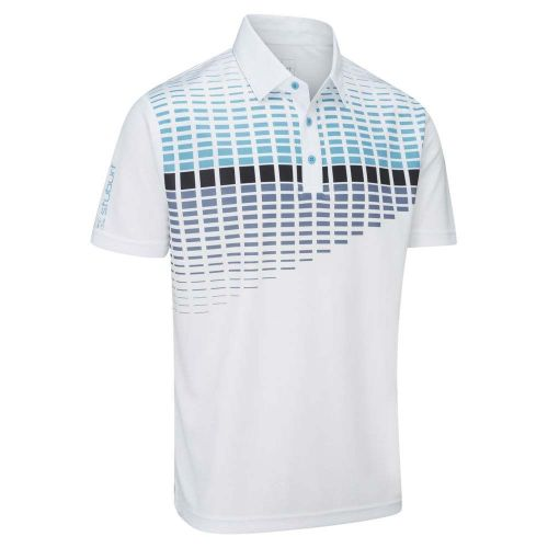 Stuburt 2018 Endurance Block Polo Shirt White Blue