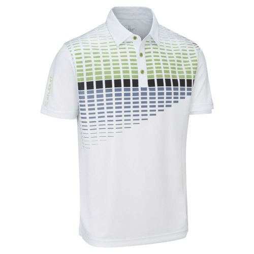 Stuburt 2018 Endurance Block Polo Shirt White Green