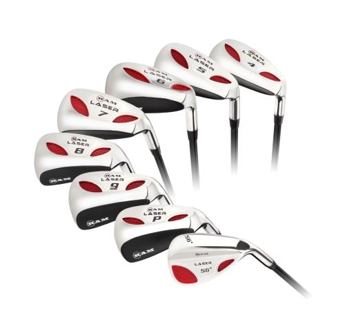 Ram Golf Laser Graphite Hybrid Irons Set 4-SW (8 Clubs) - Mens Right Hand Regular Flex,,,,,,,,,