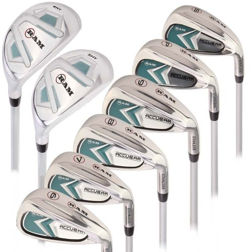 Ram Golf Accubar Lady Clubs Iron Set 6-7-8-9-PW-SW with Hybrids 24° and 27°,,,,,,,,