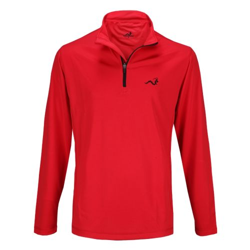 Woodworm 1/4 Zip Golf Pullover - Red / Black