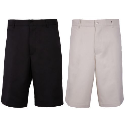 Woodworm Golf 2 Pack Mens Golf Shorts, 1 Black and 1 Beige