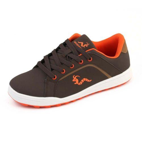 Woodworm Golf Surge V3 Mens Waterproof Golf Shoes Brown/Orange