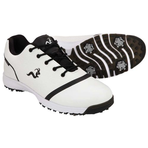 Woodworm Tour V3 Mens Waterproof Golf Shoes - White / Black